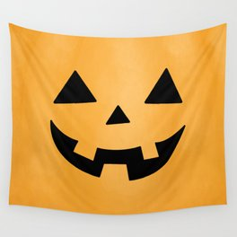 Happy Jack-O-Lantern Wall Tapestry