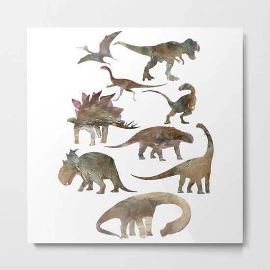 Dinosaurs Creation Metal Print