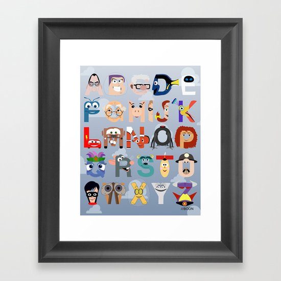 P is for Pixar (Pixar Alphabet) Framed Art Print