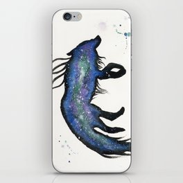 Green and Purple Nebula Wolf iPhone Skin
