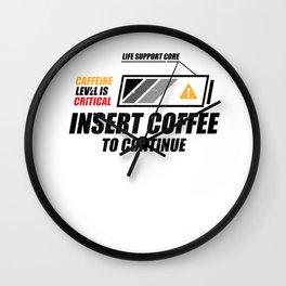 Coffee Caffeine Motivation Mindset funny gifts Wall Clock