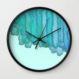 Kelp Beach - Blue Green Abstract Wall Clock