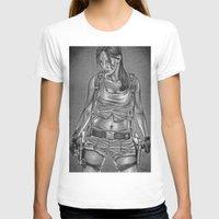 lara croft T-shirts featuring Ms. Croft by Bungle