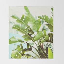 Banana Palms Throw Blanket