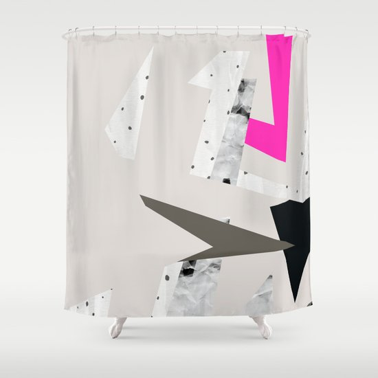 Abstract 08 Shower Curtain