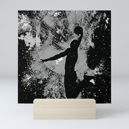 SLAM DUNK IN BLACK AND WHITE Mini Art Print