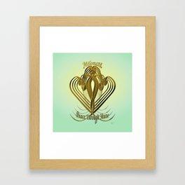 Melomane ~ Peace Through Music Framed Art Print