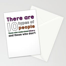 10 types of people Stationery Cards