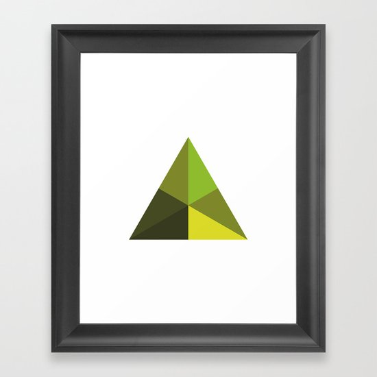 #126 Pyramid – Geometry Daily Framed Art Print