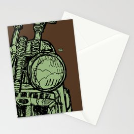 MOTORCYCLE HEADLIGHT Stationery Cards