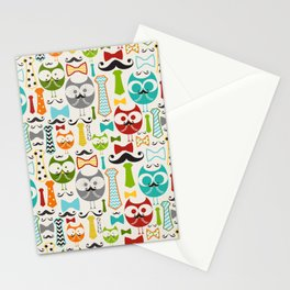 Working Owls Stationery Cards