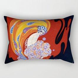 """Art Deco Design """"Oriental Tale"""" by Erté Rectangular Pillow"""