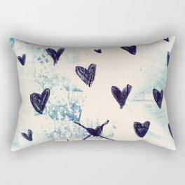 Black Hearts Rectangular Pillow