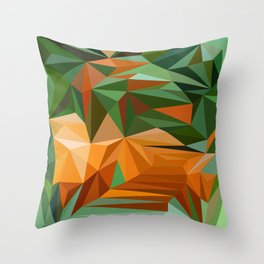 abstract pattern geometric triangle mosaic background low poly style Throw Pillow