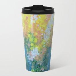 Blue Yellow Criss Cross Travel Mug
