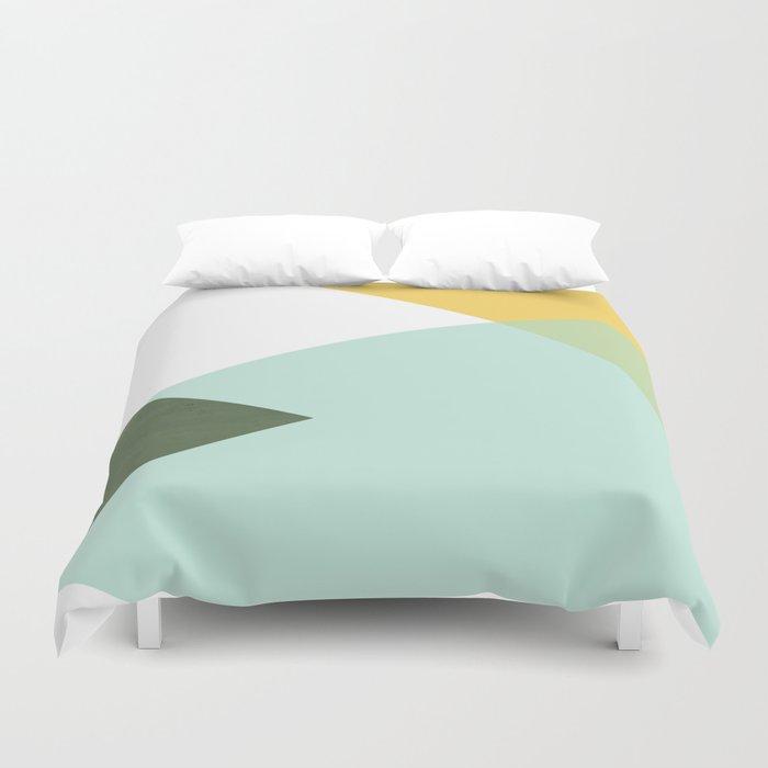 Geometrics - citrus & concrete Bettbezug
