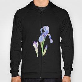 Watercolor irises Hoody