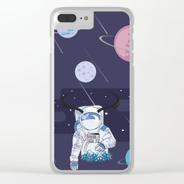 Cosmic world Clear iPhone Case