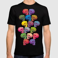 skull in color Mens Fitted Tee MEDIUM Black
