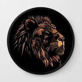 Lion Abstract Illustration Wall Clock