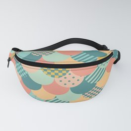 Patchwork Mermaid Scales Fanny Pack