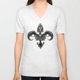 Dragon Fleur D Lis Unisex V-Neck