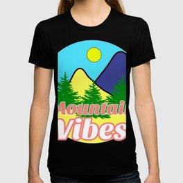 Mountain Vibes Typography Art Logo Design / GFTMountain001 T-shirt