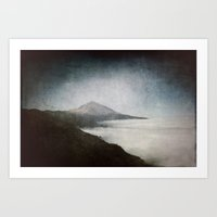 geology Art Prints featuring Mount Teide and dust by UtArt