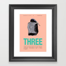 Flawless V Framed Art Print