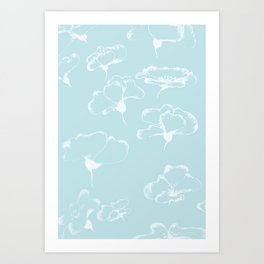 White Poppies II Art Print