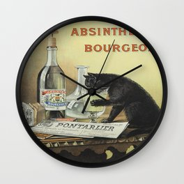 Vintage poster - Absinthe Bourgeois Wall Clock