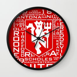 MixWords: Red Devil Wall Clock