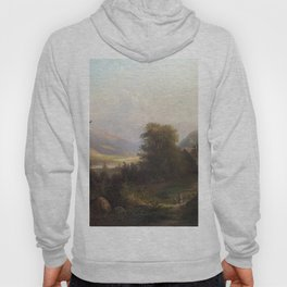 Hudson River Scene 1863 By David Johnson | Reproduction | Romanticism Landscape Painter Hoody