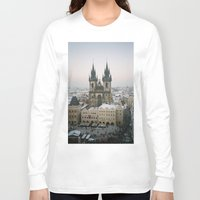 prague Long Sleeve T-shirts featuring Prague by BriAnneWills