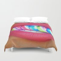 lip Duvet Covers featuring Lip Candy by Bougiee Inc.