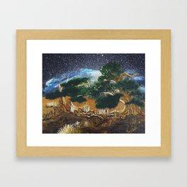 Mediterranean Night Framed Art Print