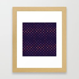 Abstract Gradient Circles on Purple Background Framed Art Print