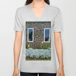 Bottle House Wall Unisex V-Neck