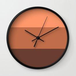Peach Gradient Pattern Wall Clock