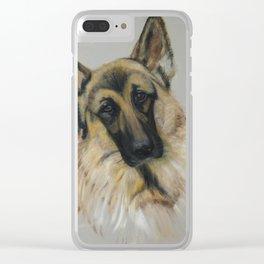 German shepard Clear iPhone Case