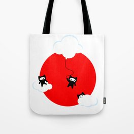 Ninja cats in the sky (Japanese edition) Tote Bag