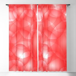 Gentle intersecting red translucent circles in pastel colors with a ruby glow. Blackout Curtain