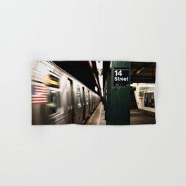 Speeding Subway Train Hand & Bath Towel