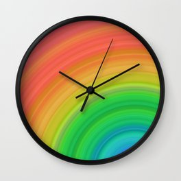Bright Rainbow | Abstract gradient pattern Wall Clock