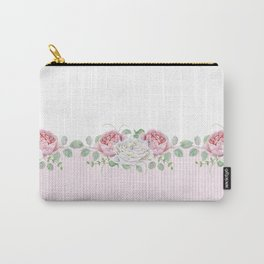Peonies and Roses Carry-All Pouch