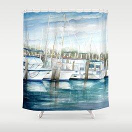 Dinner Key Marina Shower Curtain