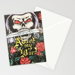 About my Word: Skull with Roses Stationery Cards