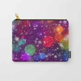 Whimsical abstract purple pink orange geometrical Carry-All Pouch
