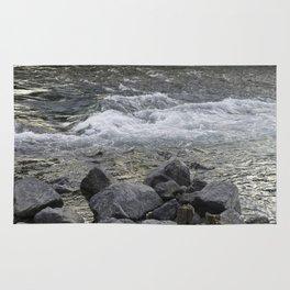 Rocks + river Rug