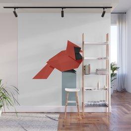 Origami Cardinal Wall Mural